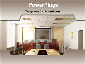 PowerPoint template displaying conference room