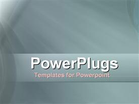 PowerPoint template displaying a plain ash and white colored display tile with bright light
