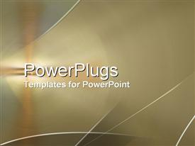 PowerPoint template displaying copper Hit
