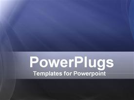 PowerPoint template displaying a plain blue background surface tile with a bright light