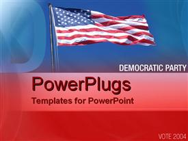 PowerPoint template displaying democratic party in the background.