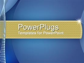 PowerPoint template displaying dependability in the background.