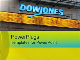 PowerPoint template displaying dow Jones