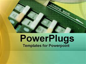 PowerPoint template displaying electronic Funds