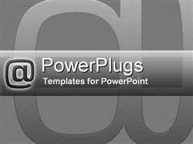 PowerPoint template displaying email Communication in the background.
