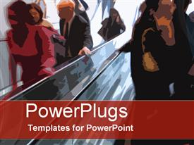 Escalator action template for powerpoint
