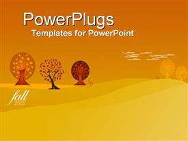 PowerPoint template displaying fall 2005