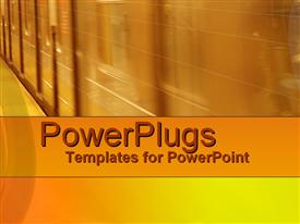 PowerPoint template displaying fast Underground