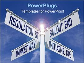 PowerPoint template displaying a number of signs in various directions
