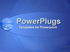 PowerPoint template displaying global feel on atmospheric blue
