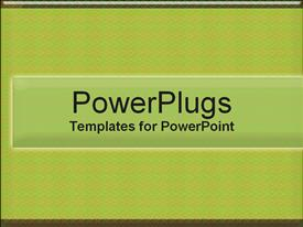 PowerPoint template displaying green Textures