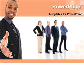 Handshake from a businessman template for powerpoint