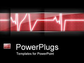 PowerPoint template displaying heart beat heart monitor in hospital black background