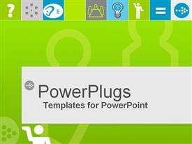 PowerPoint template displaying various icons depicting idea generation and innovation