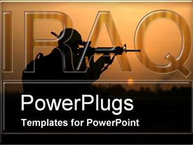PowerPoint template displaying iraq