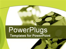 PowerPoint template displaying lady luck in the background.