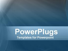 PowerPoint template displaying a plain blue background surface tile with somebright lights
