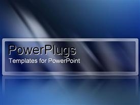PowerPoint template displaying metallic gray and blue