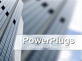Modern skyscraper in CDB in credible blue and grey powerpoint theme