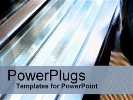 PowerPoint template displaying glowing chrome bars with brown and black lines in background