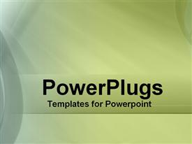 PowerPoint template displaying olive