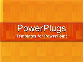 PowerPoint template displaying patterns in Orange in the background.