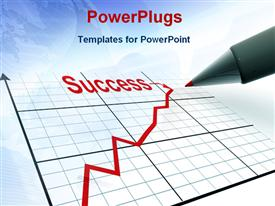 PowerPoint template displaying pen with schedule represents strategy of success in the background.