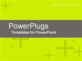 PowerPoint template displaying a plain bright yellow background with lots of cross symbols on it