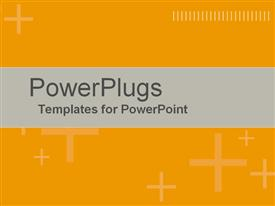 PowerPoint template displaying positive Action Orange in the background.