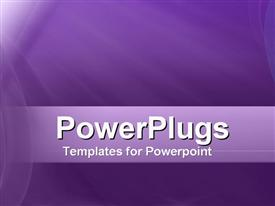 PowerPoint template displaying purple Rays