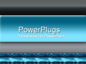 PowerPoint template displaying plain black and blue background tile with water drops