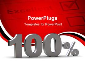 PowerPoint template displaying depiction represents discount - 100