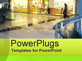 PowerPoint template displaying retail Center