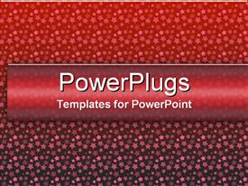PowerPoint template displaying various sized stars in different tones filling the gradient red background