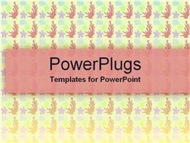PowerPoint template displaying lots of purple colored stars and pink flowers on a white surface