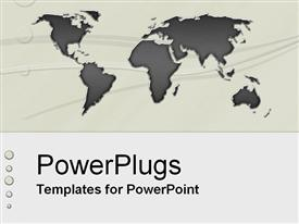 PowerPoint template displaying seriously International
