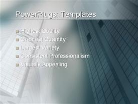 PowerPoint template displaying sharp angled buildings in the CBD