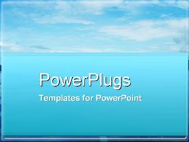PowerPoint template displaying sky High