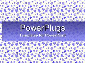 PowerPoint template displaying a plain tile with lots of multi colored stars in different sizes