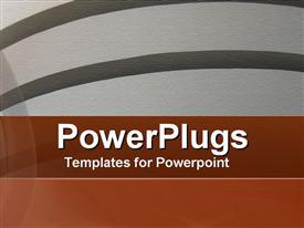PowerPoint template displaying textured Curves