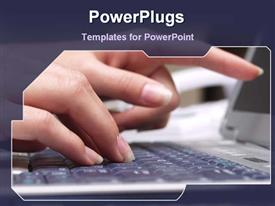 Typing on a keyboard powerpoint template