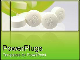 White pills presentation background