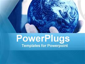 PowerPoint template displaying world in Your Hands