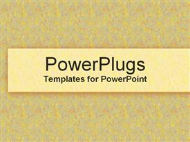 PowerPoint template displaying yellow confetti background with yellow box