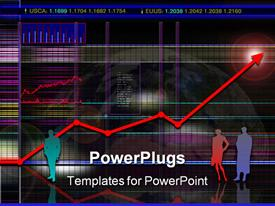 Abstract modern and/or futuristic stock and market chart scenario: powerpoint template