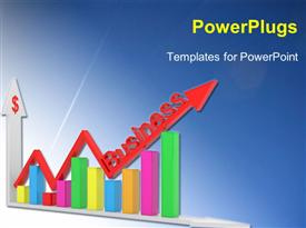 PowerPoint template displaying business chart showing financial success. objects isolated on a white in the background.