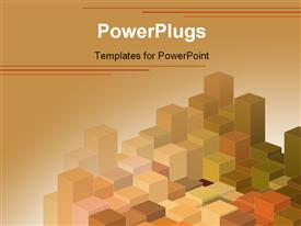 PowerPoint template displaying abstract template ideal for layouts flayers brochures billboards in the background.