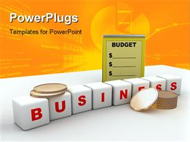 Computer rendered image of budget and business template for powerpoint