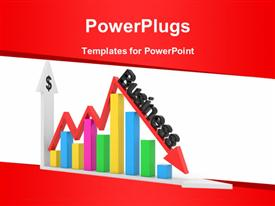 PowerPoint template displaying business chart showing financial success