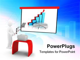 PowerPoint template displaying concept with chart